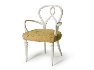 Art.496 armchair, Fauteuil en bois de noyer brut, assise rembourrée