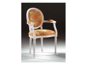 Art. 514/P, Chaise avec accoudoirs, dans un style luxueux, accoudoirs rembourrés