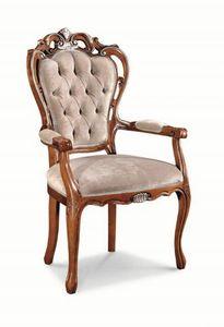 Art. 520p, Tête de chaise de table avec structure perforée, touffetée