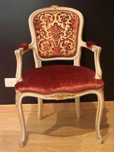 Art. 832, Fauteuil classique pour la maison, bois laqué antique