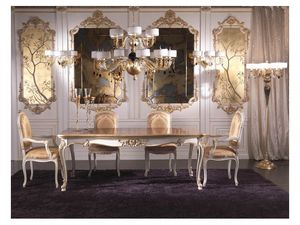 Art.937, Chef du luxe classique de la chaise de table, recouvert de soie
