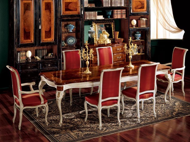 Display armchair 838 P, Fauteuil pour salle à manger, style classique