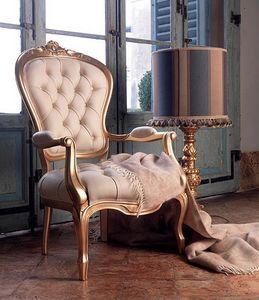 Giorgione Fauteuil, Fauteuil en cuir rembourré, pour classique salon