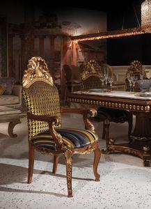 Hermitage B/2071/A, Fauteuil classique avec assise et dossier rembourrés