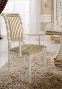 Liberty chaise avec accoudoirs, Chaise avec accoudoirs, avec un design classique, or précieux feuilles décorations