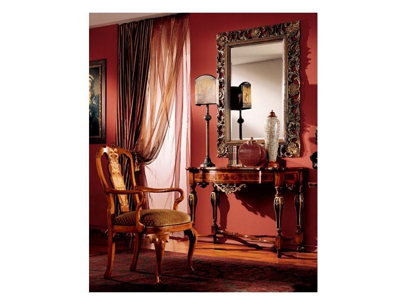 Venezia armchair 816, Chaise rembourrée classique avec accoudoirs
