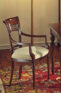 Voltaire chaise tête de la table, Tête de président de la table, avec de la cire satinée, pour ristorants