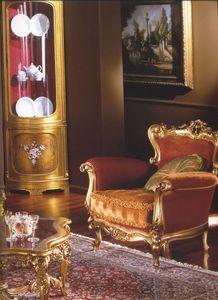 3195 FAUTEUIL, Fauteuil rembourré pour salons de style classique