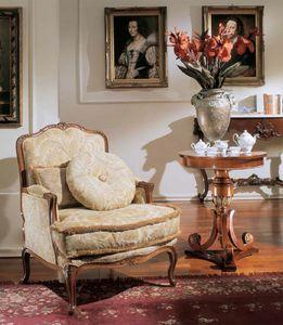 3210 ARMCHAIR LUIGI XV, Luxe classique fauteuil rembourré, de style Louis XV
