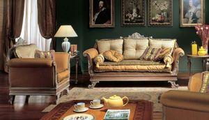 3225 ARMCHAIR IMPERO, Fauteuil avec finition mariné, des hôtels de luxe
