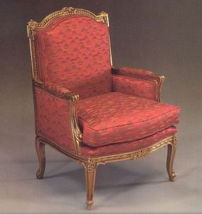 5025 FAUTEUIL, Fauteuil rembourré pour le salon, style classique de luxe
