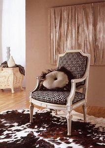 9806 fauteuil, Fauteuil classique avec des feuilles dorées