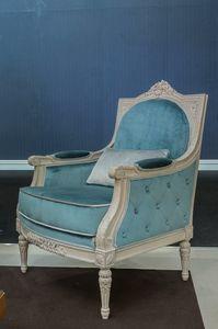 Arles fauteuil, Fauteuil classique en velours