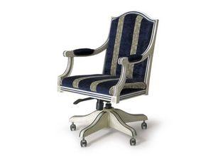 Art.224 armchair, Fauteuil de style classique avec roues et réglable en hauteur
