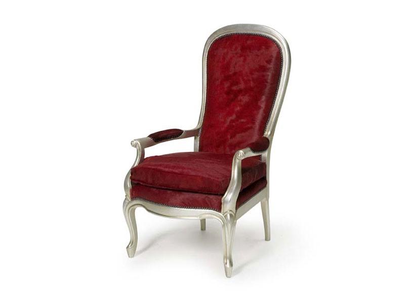 Art.301 armchair, Fauteuil rembourré avec grand dossier, style classique