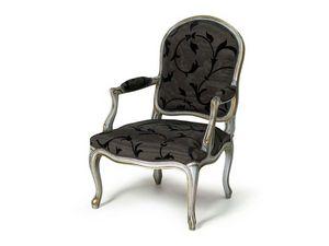 Art.445 armchair, Fauteuil de style Louis XV, fait main