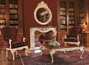 Art. 961/L, Les fauteuils pour salon de luxe, socle en bois sculpté à la main