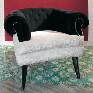 Audrey, Fauteuil classique de luxe avec couverture matelass�e