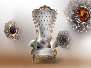 B/110/6 The Throne, Fauteuil en bois, pour la résidence de luxe