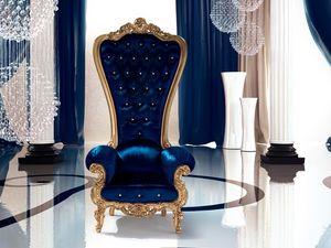 B/110/7 The Throne, Fauteuil rembourré, personnalisable, pour la Ville
