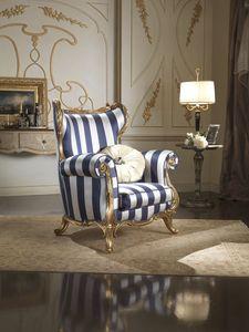 Borromini fauteuil, Bergère en tissu de soie