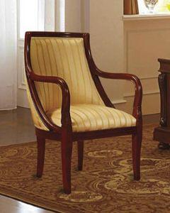 Canova fauteuil, Fauteuil en noyer, tapissée, des hôtels classiques
