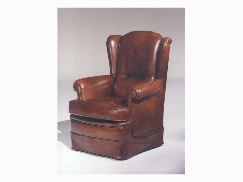 Elisabeth, Fauteuil en cuir pour les meubles de luxe