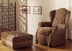 Emmerich, Fauteuil de luxe enveloppante, tapissé en cuir