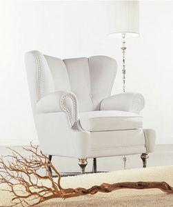 Esedra, Fauteuil couvert, style contemporain classique
