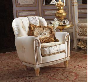Esimia fauteuil, Fauteuil classique en tissu de soie