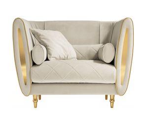 SIPARIO fauteuil, Fauteuil classique recouvert de velours