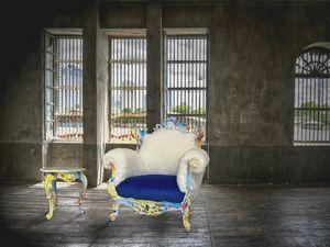 Finlandia Swirl laqué, Glamour srmchair idéal pour les hôtels, boutiques et discothèques