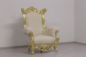 Finlandia Classique trône, Trône dans le style New baroque, en bois sculpté à la main