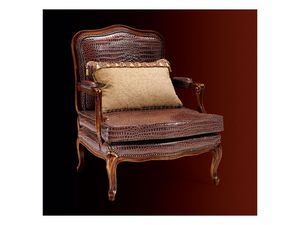 Gardenia armchair 806, Fauteuil avec sellerie cuir