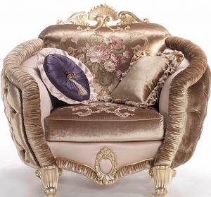 Isabelle fauteuil, Fauteuil enveloppant, avec des détails luxueux
