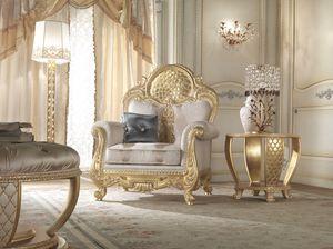 Lario fauteuil, Fauteuil de style classique avec décoration en dentelle