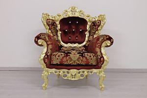 Maria fauteuil, Fauteuil classique avec dossier en médaillon