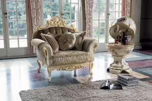 Opera fauteuil, Fauteuil avec des d�tails de feuille d'or