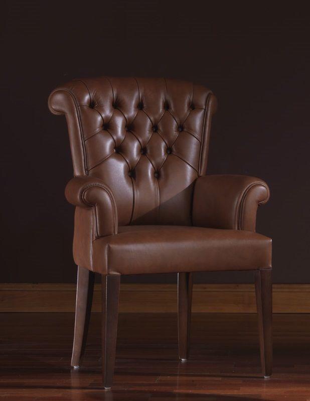 Oxford, Fauteuil en cuir idéale pour les environnements résidentiels et bureaux