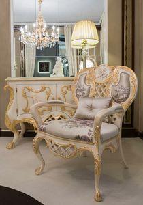 Pantheon fauteuil, Fauteuil classique en tissu de soie