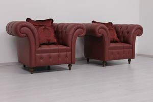 Swing cuir, Fauteuil de style Chesterfield anglais