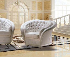VERSAILLES fauteuil, Fauteuil capitonné classique