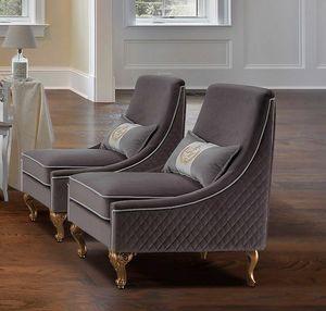 AFRODITE fauteuil, Fauteuil recouvert de tissu hydrofuge