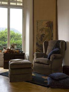 Alfredo, Fauteuil avec couvercle amovible et propre et sec, style classique