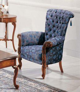 Art. 3596, Fauteuil confortable de style Louis XV
