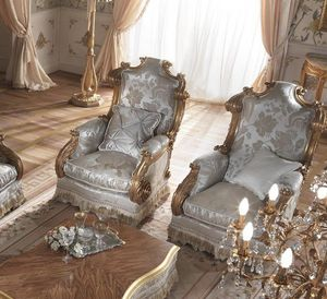 Barone fauteuil, Fauteuil classique avec dossier haut