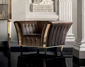 DIAMANTE fauteuil, Fauteuil avec un design classique, pour les salons raffin�s