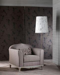 DORIAN fauteuil 8557A, Fauteuil élégant, excellente finition, pour classique salon