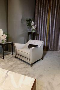 EGEA Poltrona, Fauteuil pour salons de villas de luxe