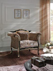 Inglese fauteuil, Fauteuil sculpté